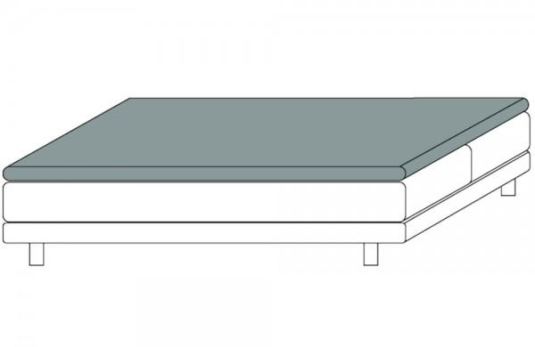 Spannbetttuch für Topper bis 12 cm hoch