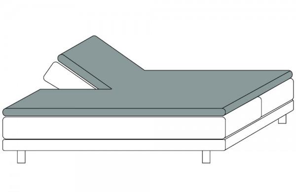 Spannbetttuch für Topper mit Einschnitt Split